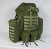 Airborne Bergen With Molle Side Pockets - Green